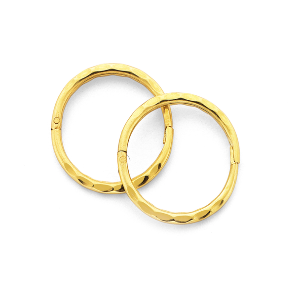 9ct Gold Small Facet Sleepers
