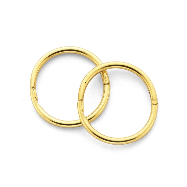 9ct Gold Small Plain Sleepers