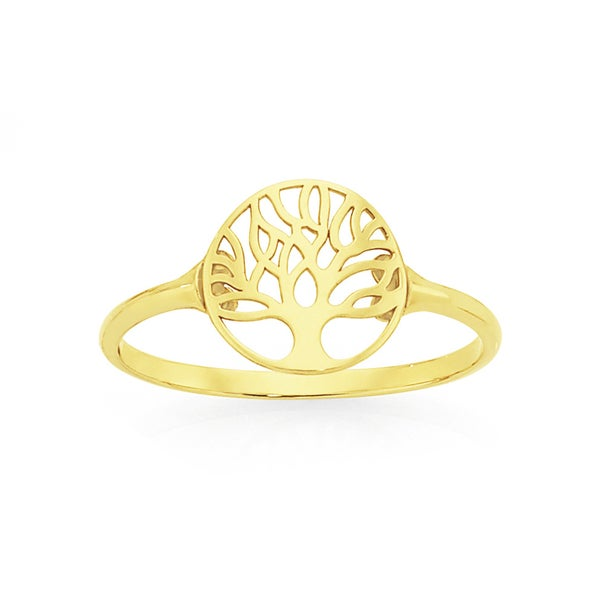 9ct Gold Tree Of Life Dress Ring