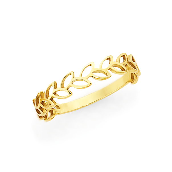 9ct Gold Wreath Stacker Ring