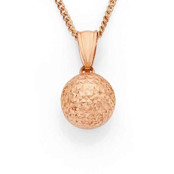 9ct Rose Gold 10mm Ball Pendant