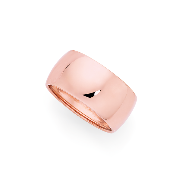 9ct Rose Gold 10mm Wide Ring