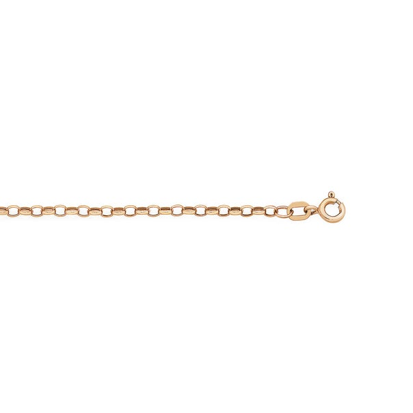 9ct Rose Gold 50cm Hollow Oval Belcher Chain