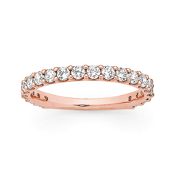9ct Rose Gold Cubic Zirconia Anniversary Band