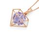 9ct Rose Gold Pink Amethyst Geo Shape Pendant