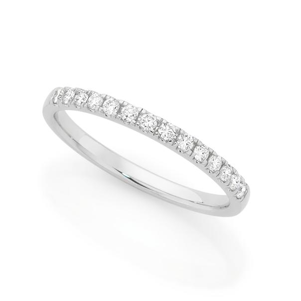 Alora by Goldmark 14ct White Gold Lab Grown Diamond Band