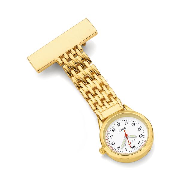 Elite Gold Tone Nurses Watch