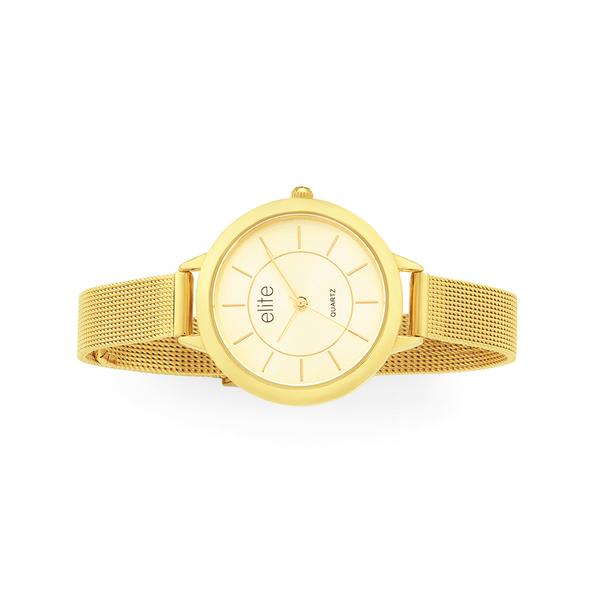 Elite Ladies Gold Tone Watch