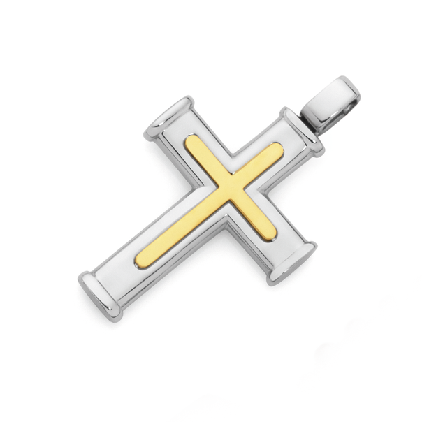 Gold Plated Steel Centre Cross