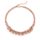 Rose Plated Steel Urban City Double Curb Link Necklet
