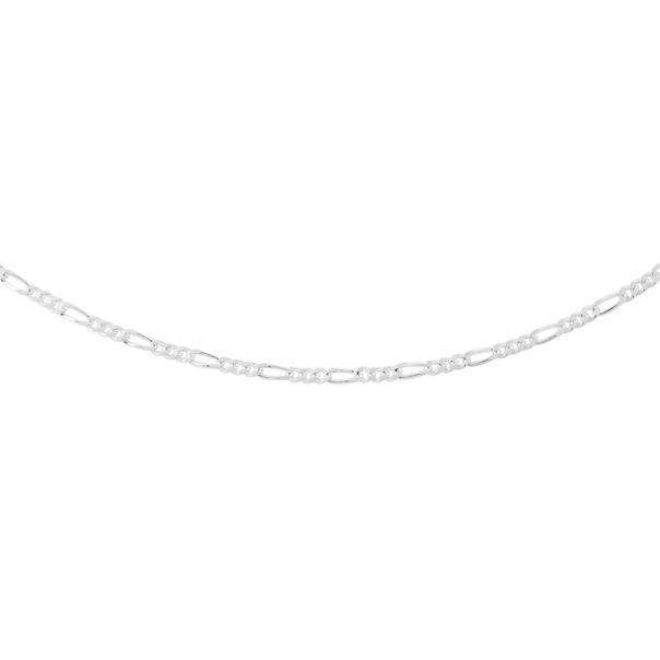 Silver 45cm 3+1 Figaro Chain