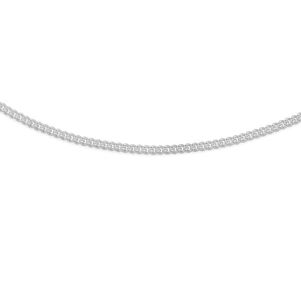 Silver 45cm Curb Chain