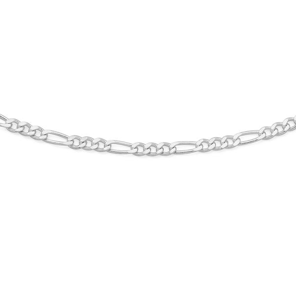 Silver 50cm 3+1 Figaro Chain