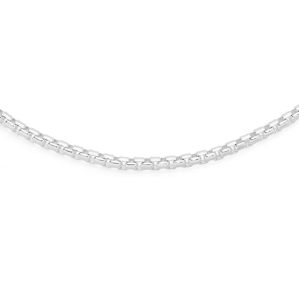 Silver 50cm Smooth Octagonal Box Chain
