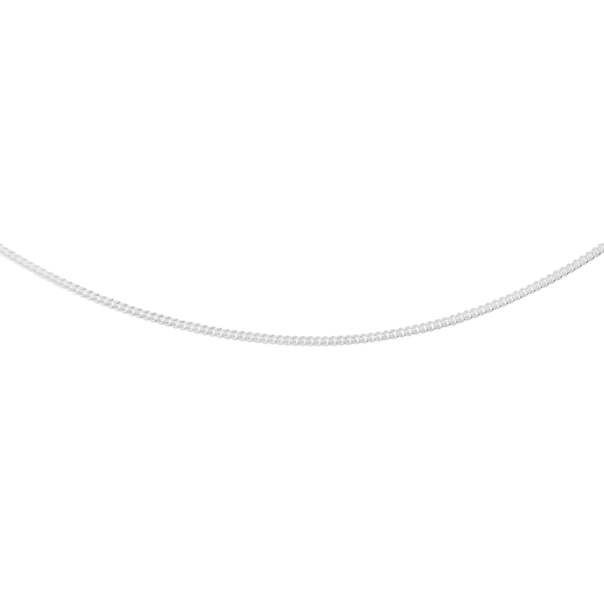 Silver 55cm Fine Curb Chain