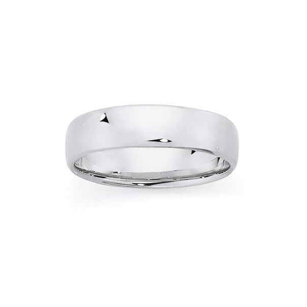 Silver 6mm Flat Soft Edge Gents Ring