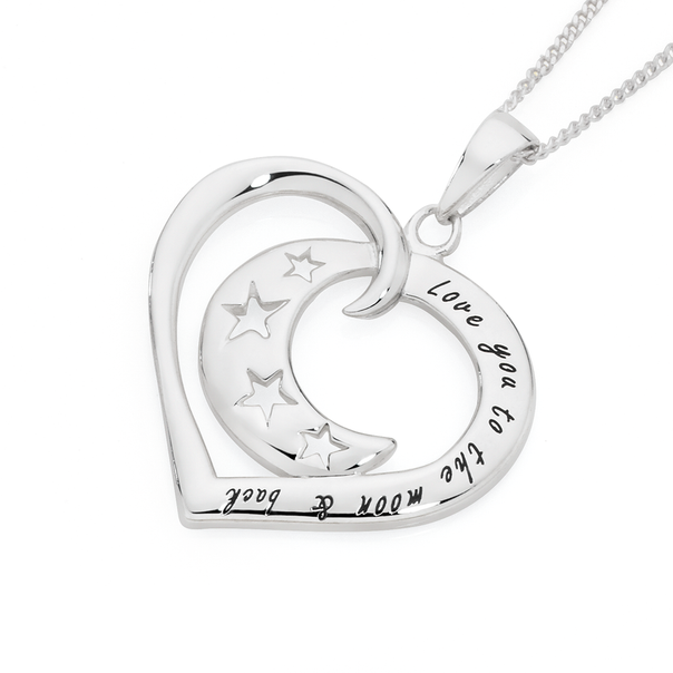 Silver Crescent Moon In Open Heart