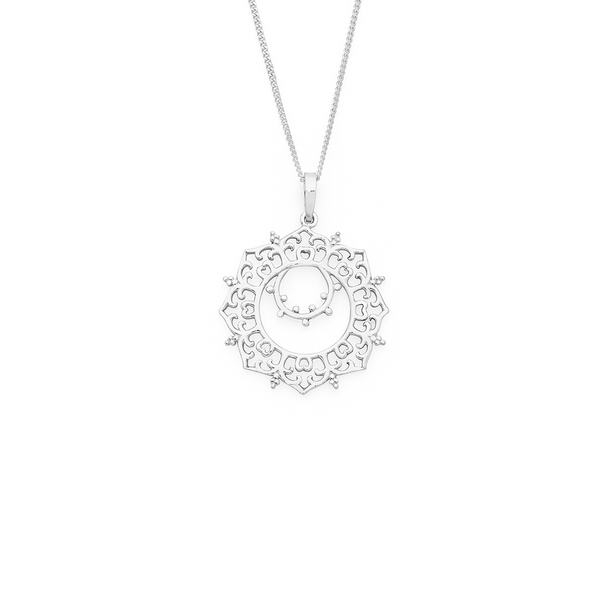 Silver Fancy Boho Pendant