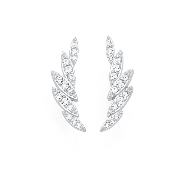 Silver Marquise CZ Earcurves