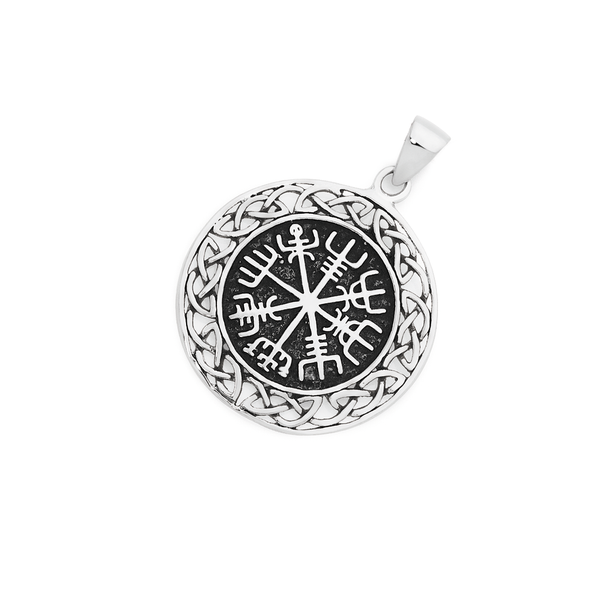 Silver Mythical Round Celtic Pendant