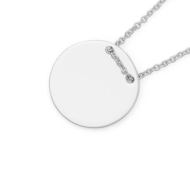 Silver Thread Through Plain Disc Pendant