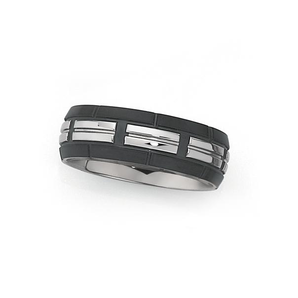 Steel & Black Plate 4 Part Ridge Ring