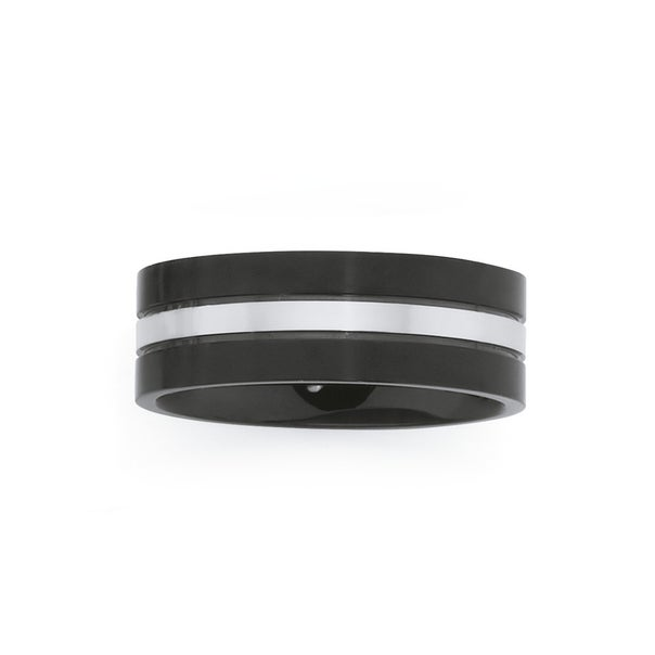 Steel Black With Steel Centre Ring