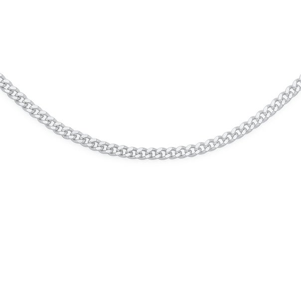 Sterling Silver 55cm Curb Chain