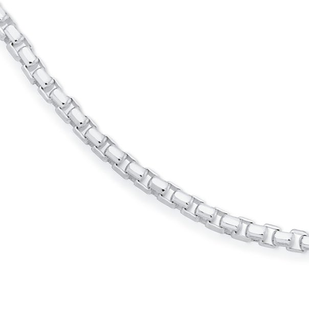 Sterling Silver 60cm Smooth Octagonal Box Chain