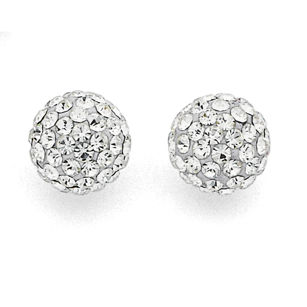 Sterling Silver 8mm Crystal Studs
